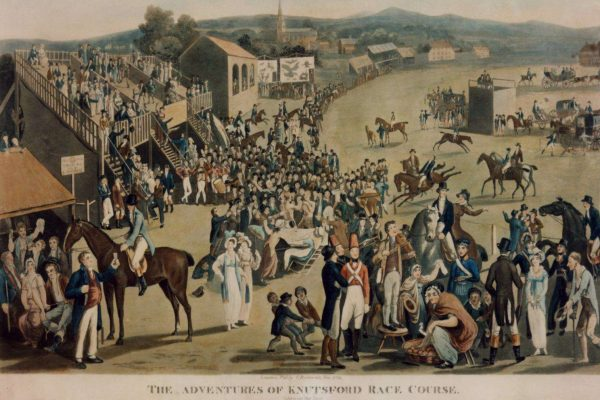 Print of a Race Course meeting at Knutsford
